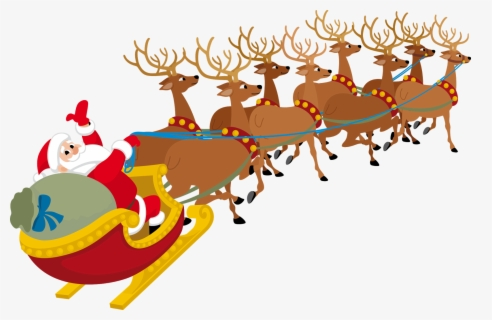 Free Santas Sleigh Clip Art with No Background.