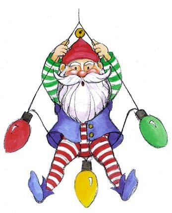 CHRISTMAS ELF CLIP ART #clipart.