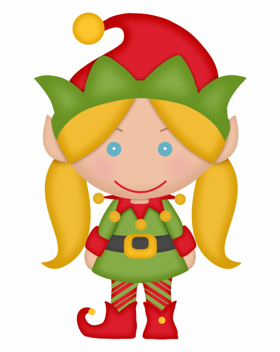 Elves Of The Helping Santa Clip Art.
