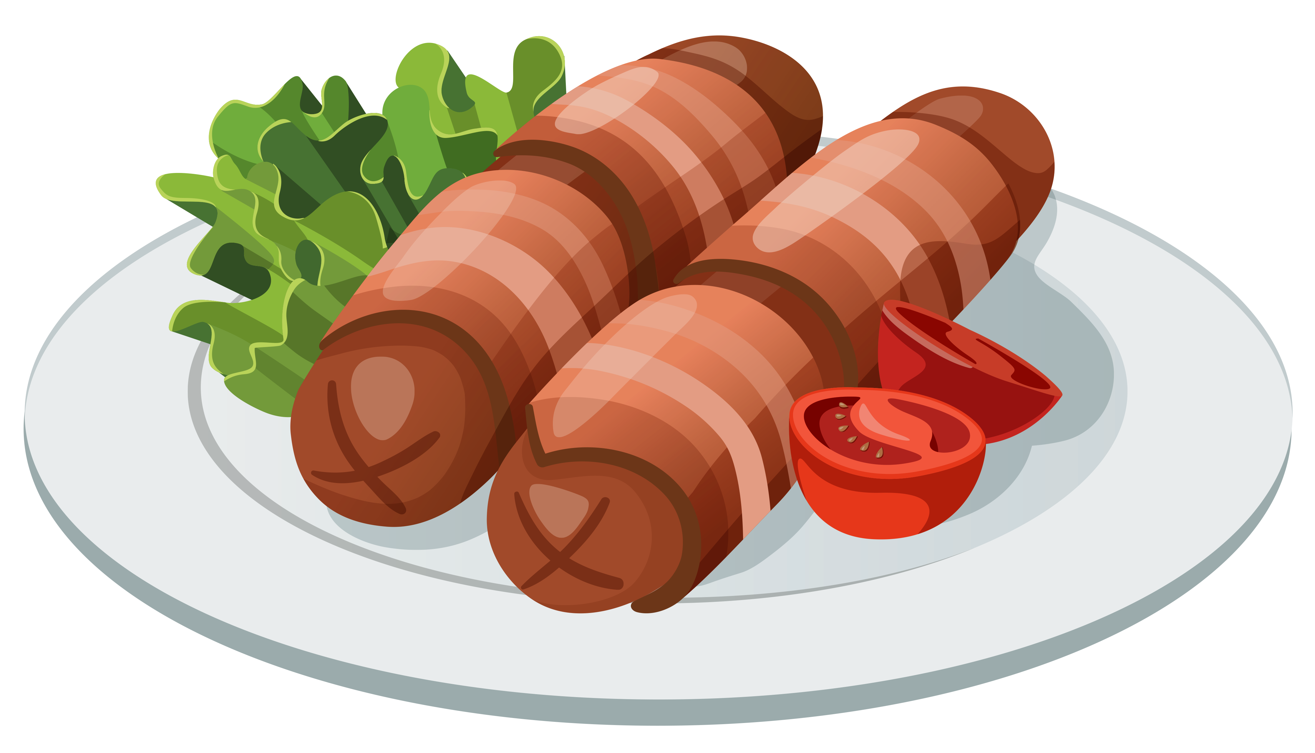 Grilled Sausage Clipart.