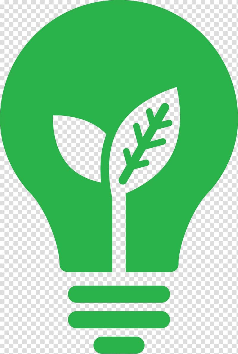 Green light bulb, Incandescent light bulb LED lamp Efficient.