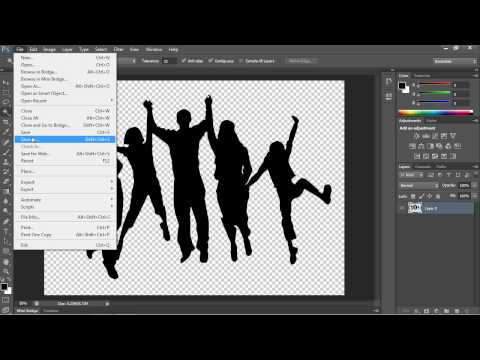 How to Save Image with a Transparent Background in Photoshop.