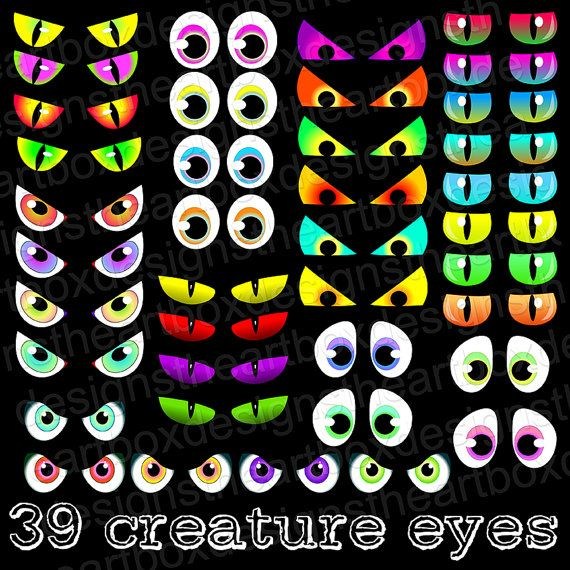 Spooky Eyes Clipart 39 Halloween Eyes Clipart by TheArtBoxDesigns.