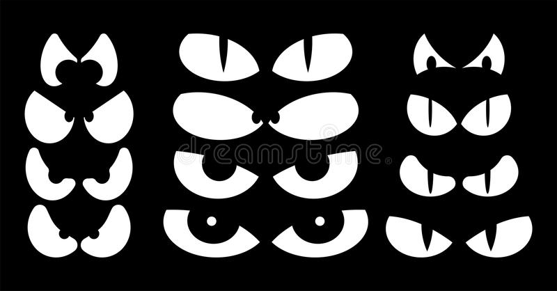 Scary Eyes Stock Illustrations.