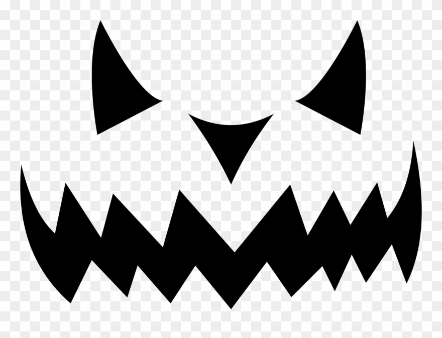 Clipart Evil Jack O Lantern Silhouette Scary Eyes Clip.