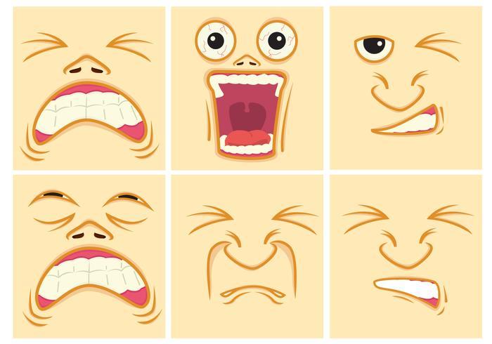 Schmerz Ausdruck Gesichter.