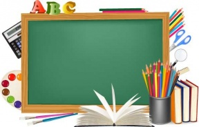 School Supplies Background Clipart.