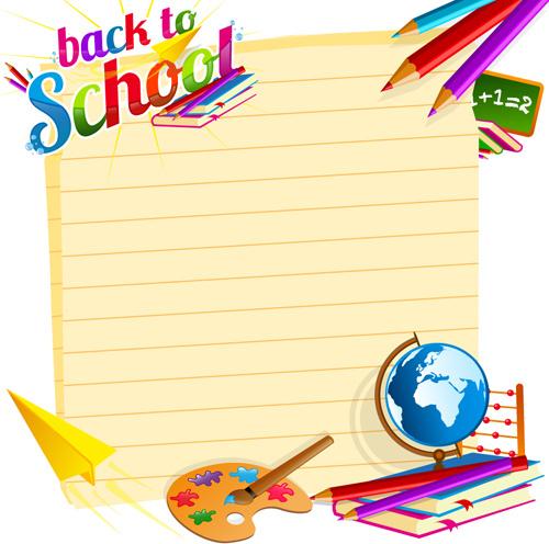 School backgrounds set Free vector in Encapsulated PostScript eps.