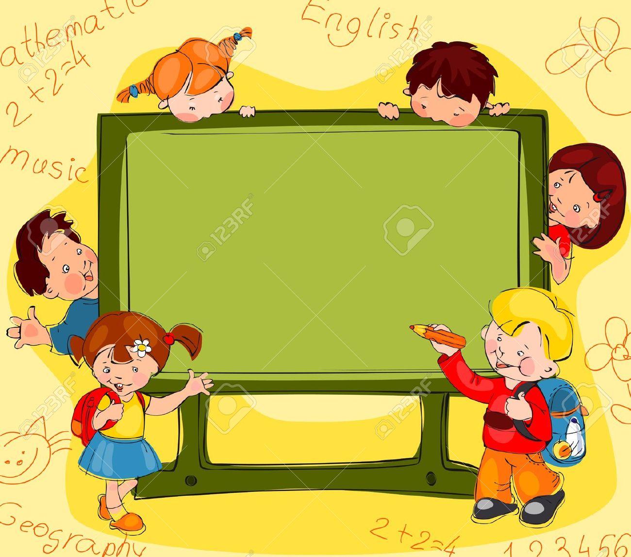 Children School Clip Art Frames Stock Photos & Pictures. Royalty.