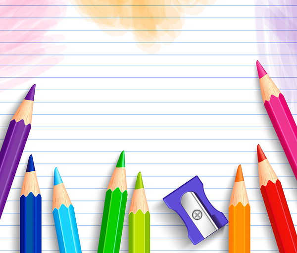 School Background with Pencils.