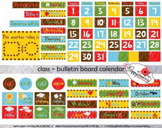 clipart school calendar #3
