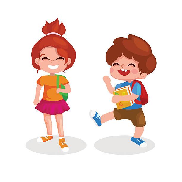 School Children In Uniform Clip Art Clip Art, Vector Images.