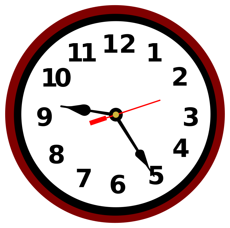 Clipart School Clock.