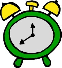 School Clock Clipart.