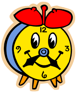 School Time Clock Clipart.