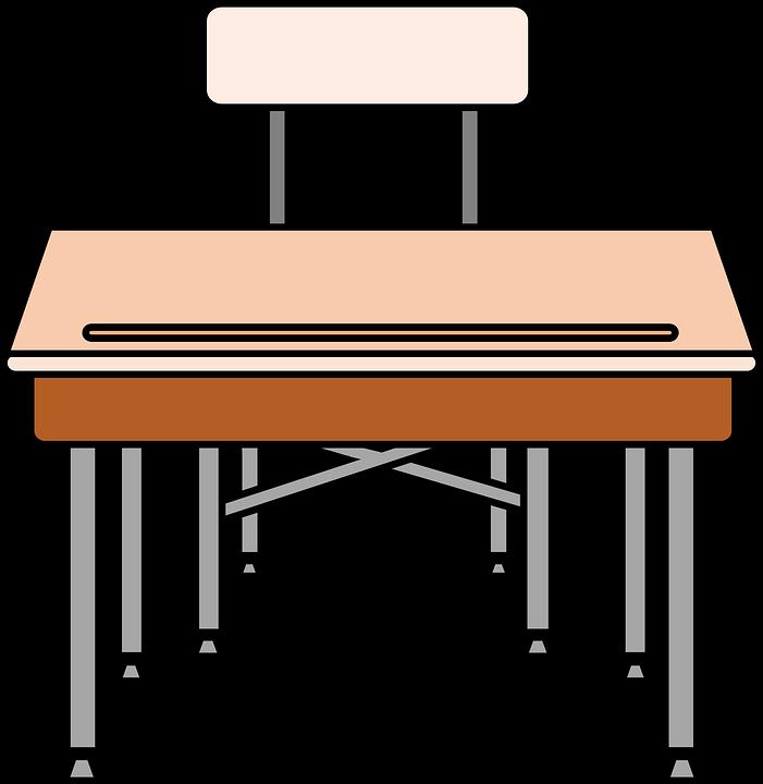 Free vector graphic: Chair, Desk, Education, School.