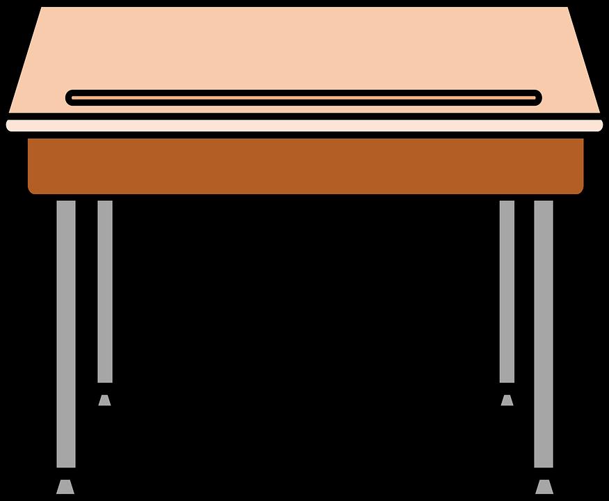 School, Desks.