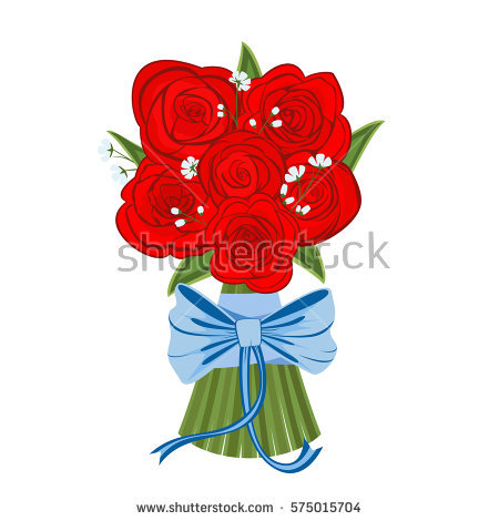 Red Roses Bouquet Stock Images, Royalty.