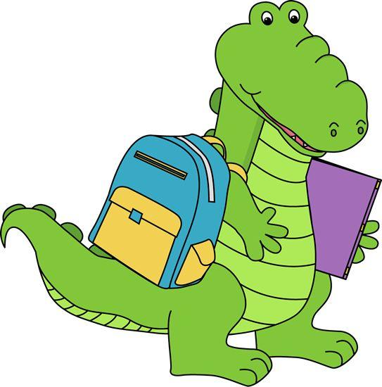 Gator At School Clipart.