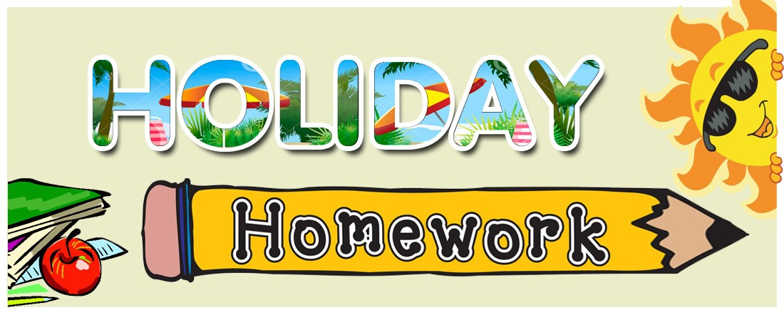 Summer Holiday Homework Clipart.