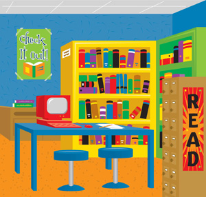School library clipart 4 » Clipart Station.