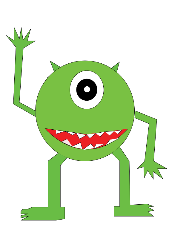 School Monsters Clipart.