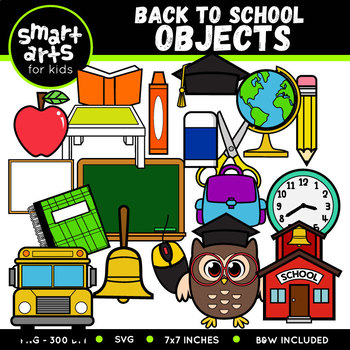 Back to School Objects Clip Art.