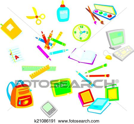 School objects Clipart.