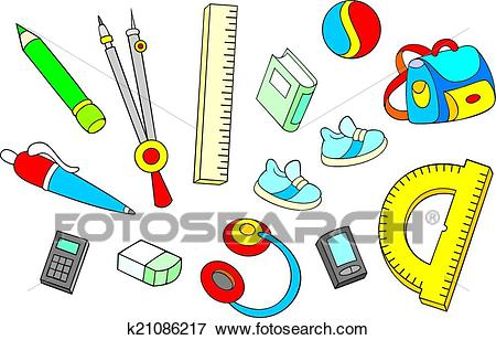 School objects Clip Art.