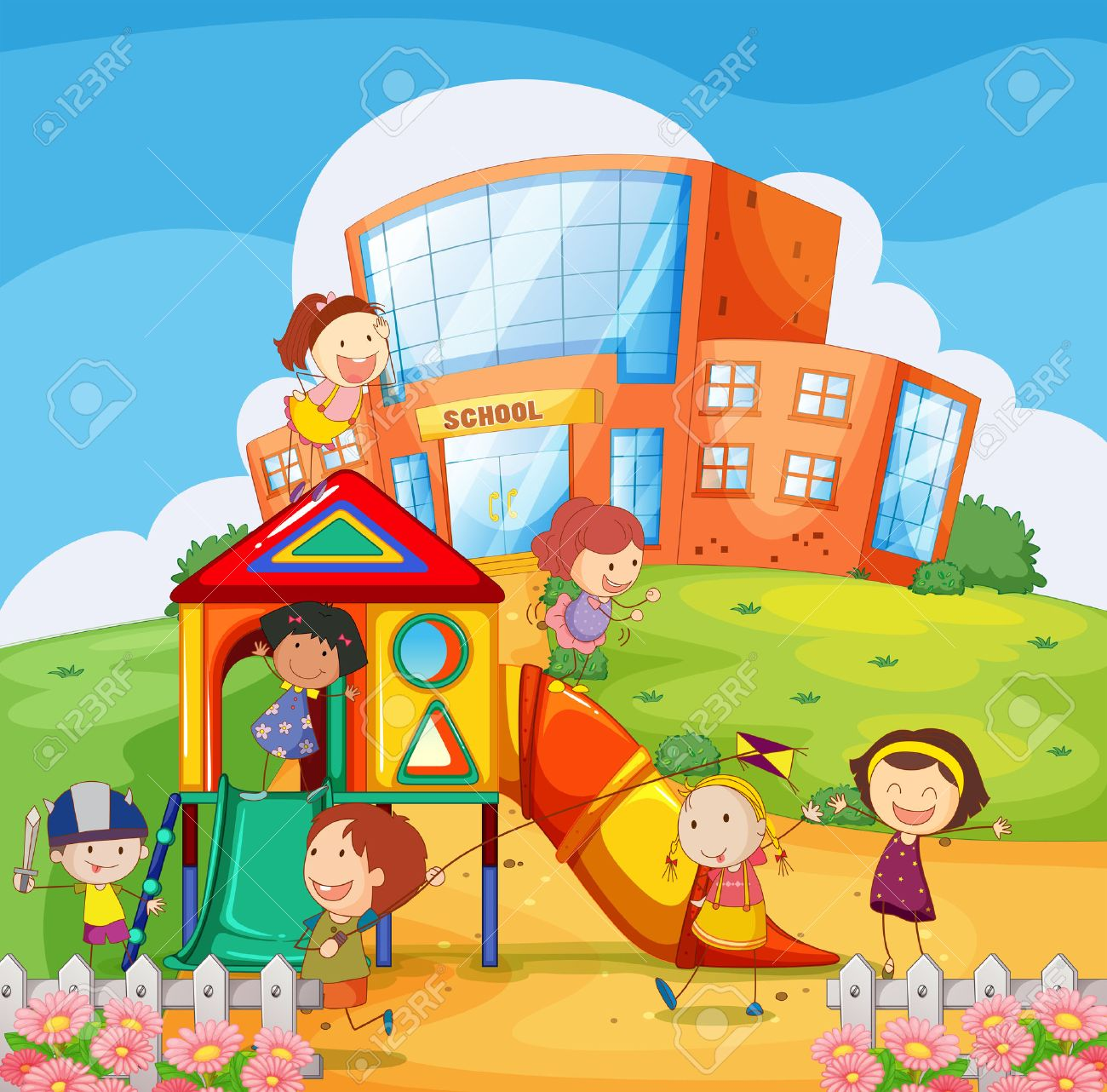 School playground clipart 9 » Clipart Station.