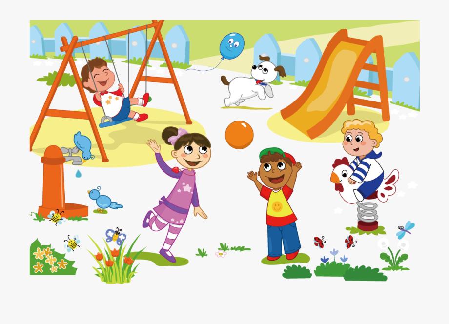 Schoolyard Playground Child Clip Art.