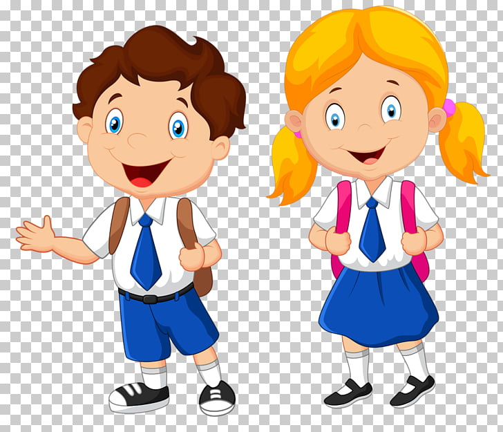 School uniform Student , student, boy and girl illustration.