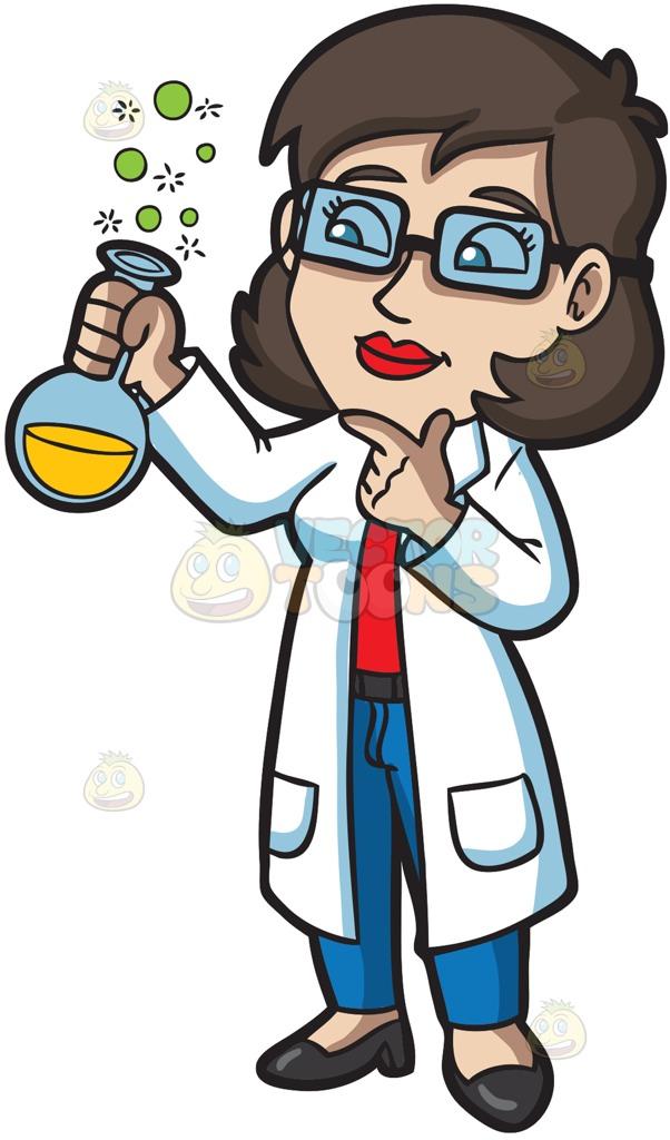 Cartoon Scientist Clipart.