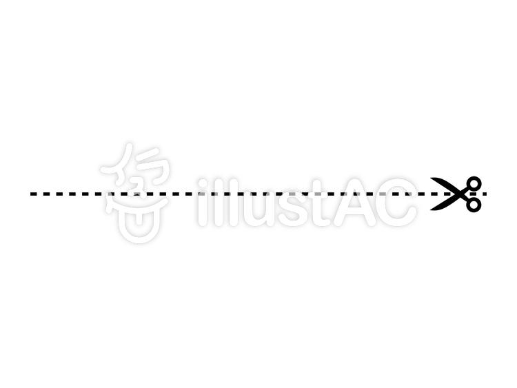 Cut wire Scissors dotted line.