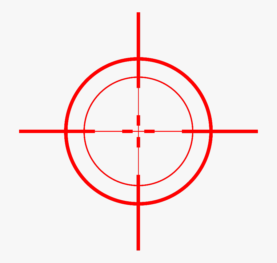 Red Sniper Scope Png , Free Transparent Clipart.