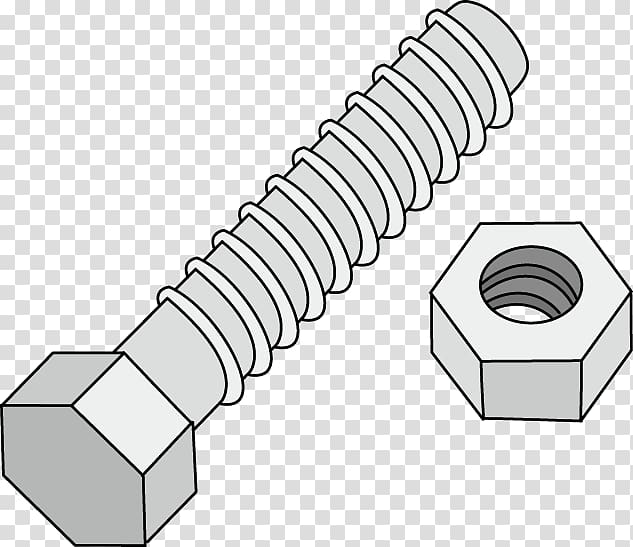 Nut Bolt Screw , screw transparent background PNG clipart.
