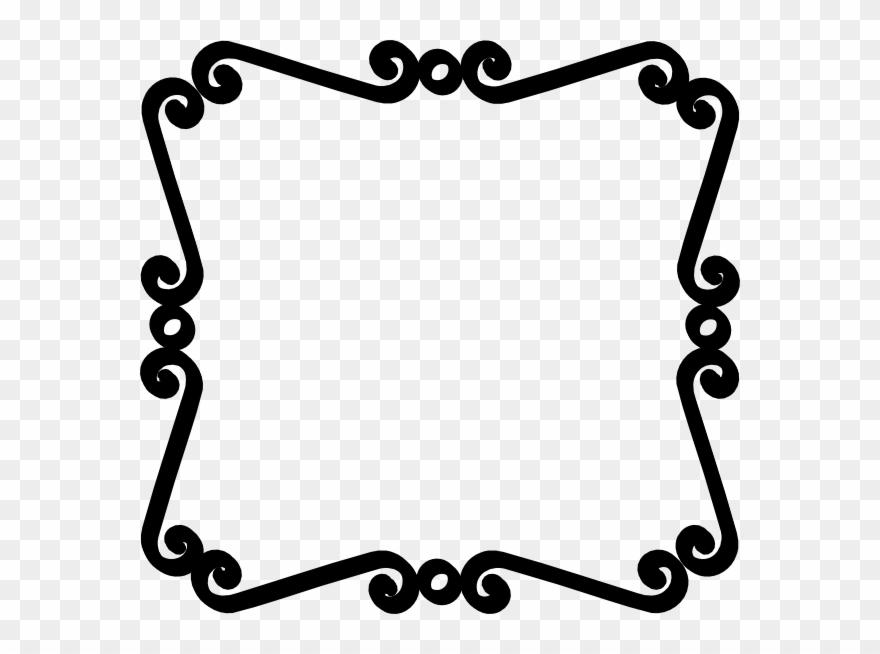 Black Scroll Border Clip Art.