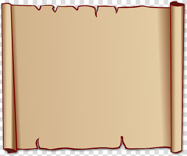 Scroll Free content , Old Paper transparent background PNG.