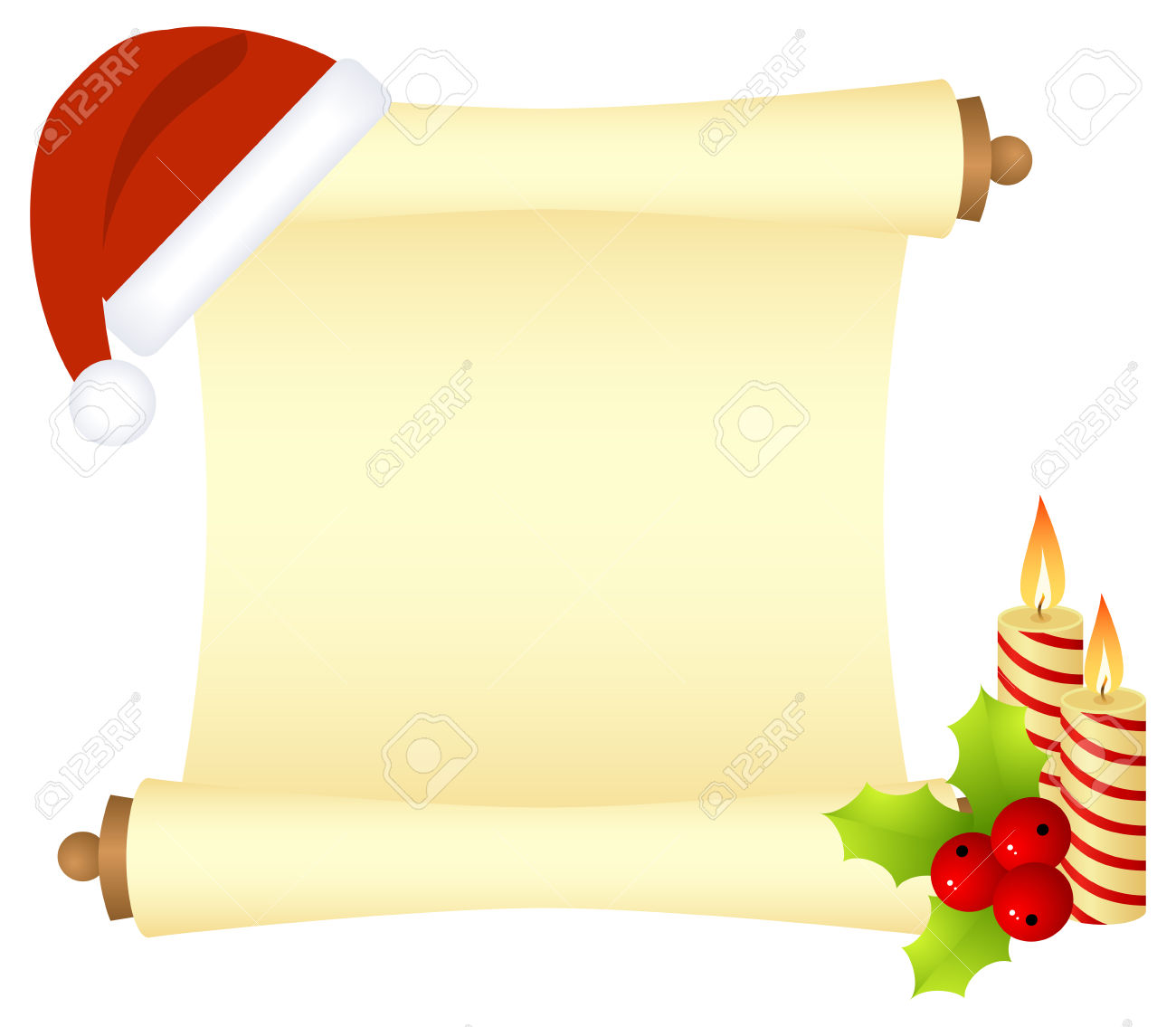 scroll letter clipart.