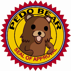 Pedo bear seal of approval Clipart Graphic.