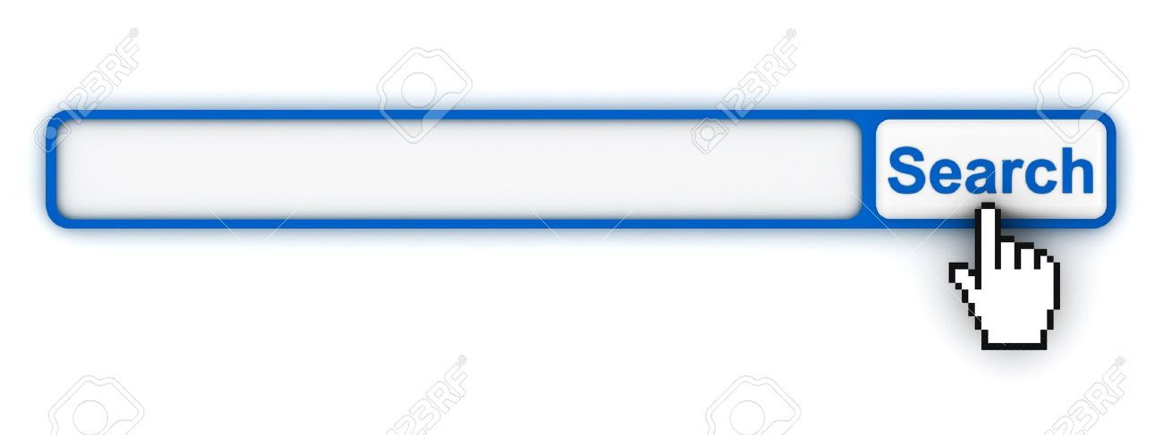Search Engine Button With Blank Box Stock Photo, Picture And.