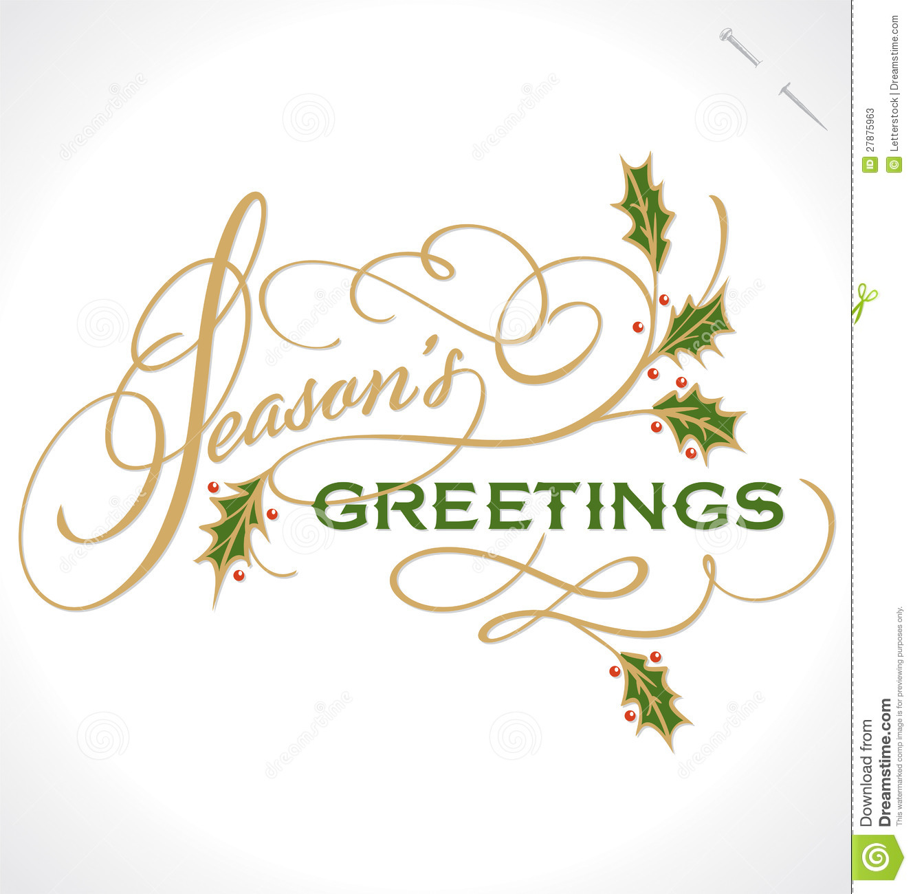 Seasons Greetings Banner Clipart.