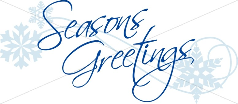 Elegant Script Seasons Greetings.