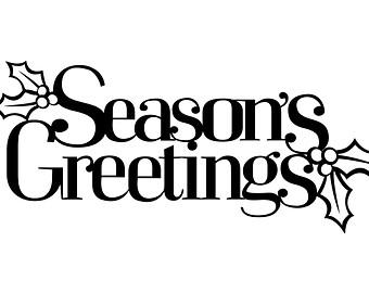 Season Greetings Clip Art.
