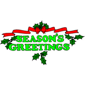 Season Greetings Clip Art.