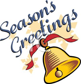 Seasons Greetings Christmas Bell.