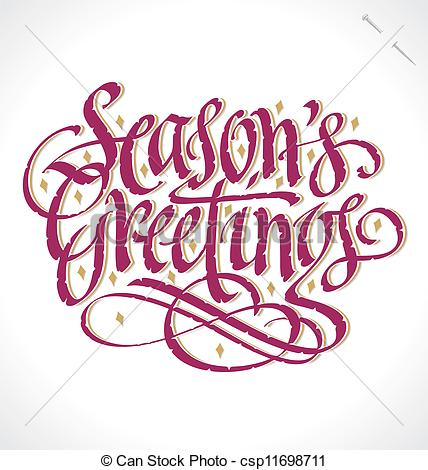 Festive Season Greetings Clipart.