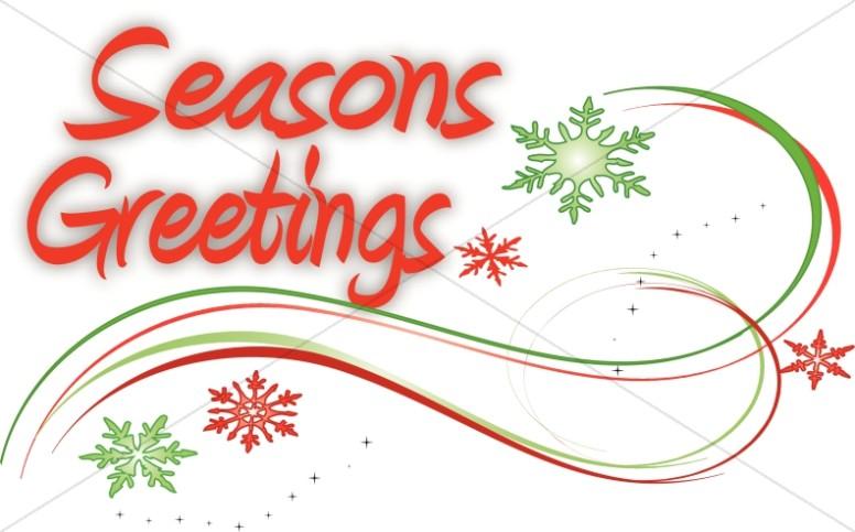 Snowflake Swirls and Seasons Greetings.