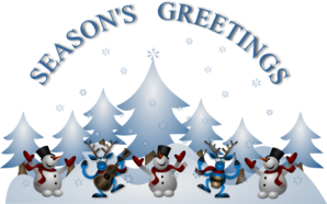 Seasons greetings clip art.