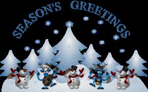 Seasons greetings clip art.